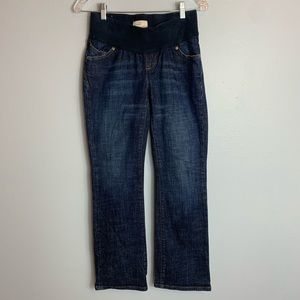 DARK LOW RISE OLD NAVY MATERNITY JEANS SIZE L